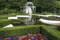 Beautiful Italian Garden, British Columbia, Canada Stock Images