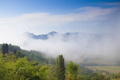 Beautiful Italian landscape with hills Stock Images