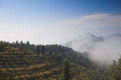 Beautiful Italian landscape with hills Stock Photography
