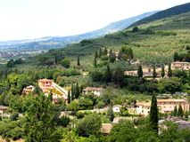 Beautiful italian landscape from Spello - Umbria.  Stock Photography