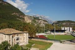 Beautiful Italian mountain and historical building. Traveling in beautiful Italy see beautiful mountain and historical building Royalty Free Stock Image