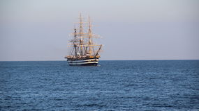 Beautiful Italian sailing ship on the high seas Royalty Free Stock Photos