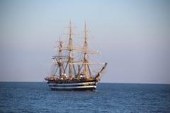 Beautiful Italian sailing ship on the high seas Stock Photo