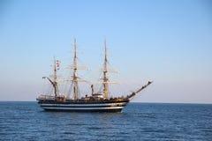 Beautiful Italian sailing ship on the high seas Royalty Free Stock Image