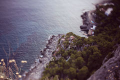 Beautiful Italian sea scape Royalty Free Stock Images