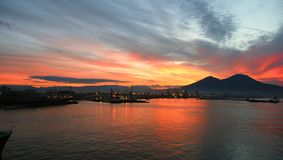 Beautiful Italian sunrise Stock Images