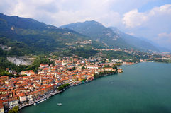 Beautiful italian town Lovere on Iseo lake Stock Image