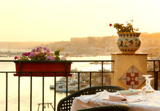 Beautiful Italian view. From the restaurant Royalty Free Stock Photo