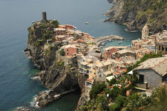Beautiful Italian village of Vernazza. Italy Royalty Free Stock Photography