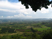 Beautiful italy. A panorama of italian vineyards Royalty Free Stock Photos