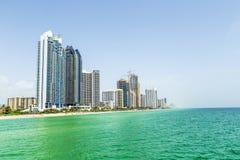 Beautiful Jade beach in Miami Royalty Free Stock Image