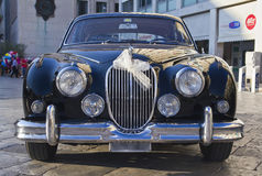 Beautiful jaguar mk2,vintage car Royalty Free Stock Photo