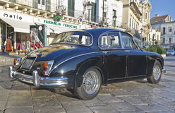 Beautiful jaguar mk2,vintage car Stock Image