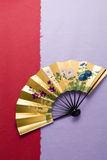 Beautiful Japanese fan Stock Image