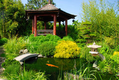 Beautiful Japanese Garden Stock Image