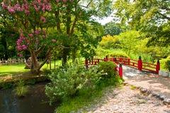 Beautiful Japanese garden Stock Photo