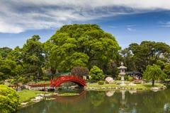 Beautiful Japanese Garden in Buenos Aires. Stock Photos