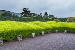 Beautiful Japanese garden in Chiran Samurai district in Kagoshima, Japan Stock Photography