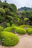 Beautiful Japanese garden in Chiran Samurai district in Kagoshima, Japan Stock Photo