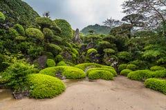 Beautiful Japanese garden in Chiran Samurai district in Kagoshima, Japan Stock Photos