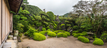 Beautiful Japanese garden in Chiran Samurai district in Kagoshima, Japan Royalty Free Stock Photos