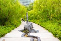 Beautiful japanese garden in garden by the bay, singapore Stock Photos