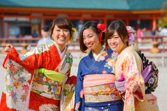 Beautiful Japanese Ladies Royalty Free Stock Photos