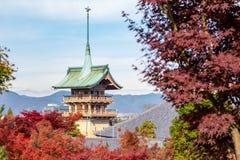 Beautiful Japanese Pagoda at Kyoto, Japan stock photography