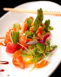 Beautiful Japanese sashimi on a white plate Stock Image