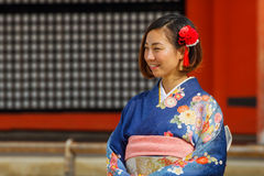 Beautiful Japanese woman in a Kimono dress Royalty Free Stock Images