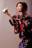 Beautiful japanese woman wearing kimono Stock Image