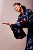 Beautiful japanese woman wearing kimono Stock Photography