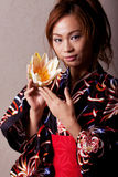Beautiful japanese woman wearing kimono Royalty Free Stock Photos