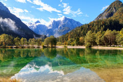 Beautiful Jasna lake at Kranjska Gora Stock Photography