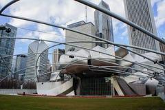 The beautiful Jay Pritzker Pavilion in Millennium Park Stock Photos