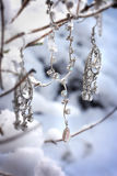 Beautiful jewellery in snowy scene Stock Photos