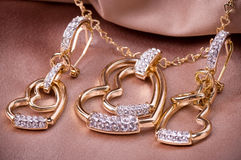 Beautiful jewelry on background Stock Image