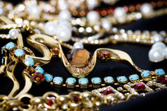 Beautiful jewelry on background Royalty Free Stock Images