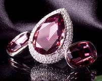 Beautiful jewelry on background Stock Images