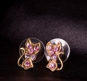 Beautiful jewelry on background Stock Photos