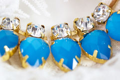 Beautiful jewelry blue stones Stock Image