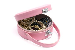 Beautiful jewelry box Stock Photos
