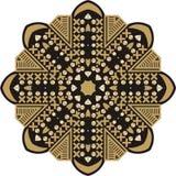 Beautiful jewelry, medallion, brooch, decoration on neck, embroidery, mandala, frame. Royalty Free Stock Photo