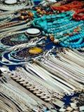 Beautiful Jewelry on street market in Asia Stock Image