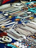 Beautiful Jewelry on street market in Asia Stock Photography