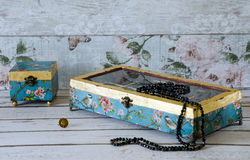 Beautiful Jewllery Boxes Royalty Free Stock Photography