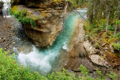 Canada, Banff National Park, Landscape Canyon River Stock Photos