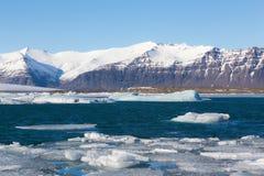 Beautiful  Jokulsarlon lagoon during winter Iceland Stock Photo