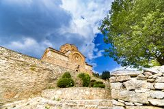 Beautiful Jovan Kaneo Church at Lake Ohrid Royalty Free Stock Photography