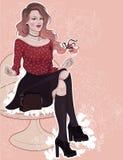 Beautiful joyful brunette Royalty Free Stock Image